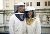 "Valentines ""Bee"" Mine: Rooftop Beekeeping & Honey Demo at The Fairmont San Francisco 02/11/12 : The DAASV arranged for the perfect Valentines activity, one that was romantic, good for the environment, totally unique, *and* educational. This was a behind-the-scenes look at the epicurean garden on The Fairmont San Francisco's famed rooftop — home to four recently installed honey beehives, each housing 50,000 bees!  While donning professional beekeeping suits, Dartmouth alumni and their guests heard from Helene and Spencer Marshall (owners of Marshall's Farm Natural Honey, and keepers of The Fairmont's bee hives) and Executive Chef jW Foster, who brought the bees to the hotel.  While using freshly harvested honey from the garden, alumni also enjoyed cooking demonstrations by Chef Foster and Executive Pastry Chef Stephen Sullivan.  On the menu were a pickled vegetable bruschetta, a dessert, two honey cocktail options, and a non-alcoholic sparkling honey lemonade.  Photos (C) Justin Tzou 2012"