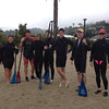 Dartmouth Stand Up Paddle Board Class 07/28/12 : Stand Up Paddle Boarding, or in the Hawaiian language hoe he'e nalu, is an emerging global sport with a Hawaiian heritage. The sport is an ancient form of surfing, and re-emerged as a way for surfing instructors to manage their large groups of students, as standing on the board gave them a higher viewpoint. Dartmouth alumni and friends gathered to learn the basics of Stand Up Paddling in a two-hour class. The land portion was about 20 minutes and then we went for a paddle along the Sausalito waterfront with our instructor to fine tune our technique.  Afterward, we met at a Sam's Café in Tiburon for a late breakfast, or early lunch.