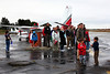 How Airplanes Fly with DAASV at Palo Alto Airport 10/17/10 : DAASV (and Columbia Business School alumni) and guests gathered on a soggy afternoon at the Palo Alto Airport to learn about how airplanes fly, and why we can't.  We found out how airplanes that weigh anywhere from a few thousand to several hundred thousand pound can fly.   Along the way,  there was a brief lecture about the ABC's of aerodynamics and aircraft design, information about the latest design developments, a look at what experimental aircraft of the future may look like, and discovering how flying from point A to point B in your own airplane differs from flying in commercial airlines.  There was an opportunity to climb into the cockpit of a four-seater and experience the instrumentation when fully powered, a look under the hood of a plane in the maintenance hanger, and time to sit alongside the runway where planes take off and land from the benches where Certified Flight Instructors (CFI) watch their students solo.  The day was wrapped up with a paper airplane flying contest and interested alumni could plot out their first steps toward taking classes or earning a pilot's license.   This event was brought to us by Desktop Aeronautics, Inc. and the management of the Sundance Flying Club, in partnership with our friends at the Columbia Business School Alumni Association of the Bay Area.  Photos (C) 2010 Justin Tzou